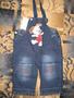 детский джинсовый кобинезон для мальчика